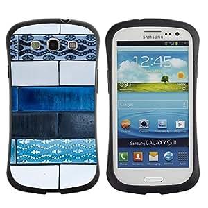 Hypernova Slim Fit Dual Barniz Protector Caso Case Funda Para SAMSUNG Galaxy S3 III / i9300 / i747 [Arte Pittura Via Hand Made]