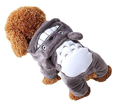 Smile YKK Cálido Mascota Disfraz de Totoro perro gato ropa ...