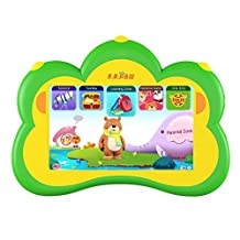 Kids Tablet, B.B.PAW 7 inch Whole Brain Education Tablette pour Enfants 2 to 6 Years Old with 90+ Preloaded Learning and Training Apps-Lime Green