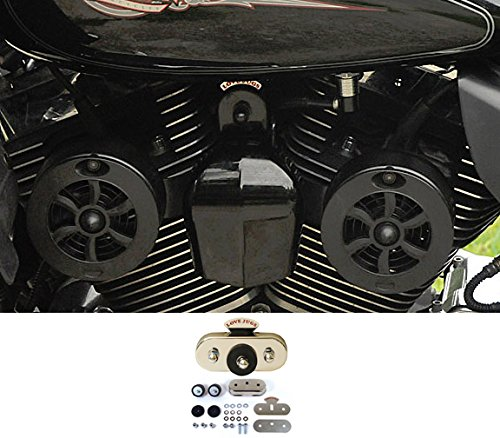 Love Jugs Cool Master Flat Black with Vibration Master Kit V-Twin Engine Cooling System for Harley Motorcycles - Motorcycle Cooling System