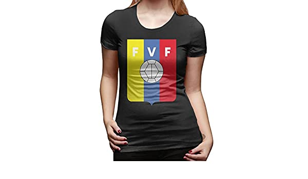 Coso prendas de vestir las mujeres de manga corta para T-Shirt – Venezuela equipo de fútbol: Amazon.es: Ropa y accesorios