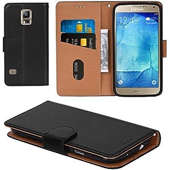 amazon com samsung galaxy s5 case s view flip cover folio, blackgalaxy s5 case, aicoco flip cover leather, phone wallet case for samsung galaxy s5 (5 1 inch) black