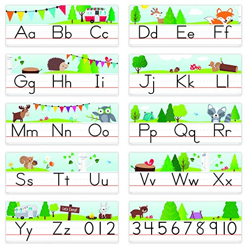 Creative Teaching Press Woodland Friends Traditional Manuscript Alphabet Line Bulletin Board, CTP 8597