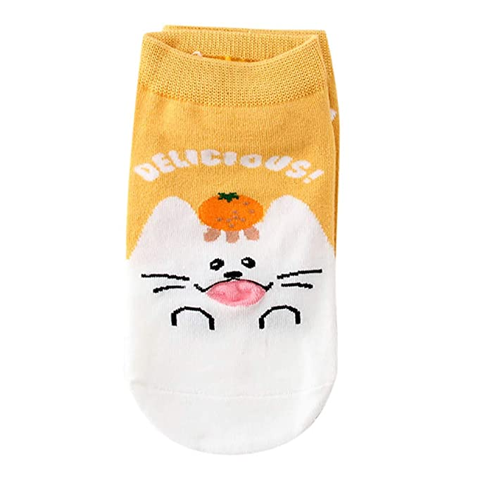 Calcetines URIBAKY, 1 Par Calcetines para Mujer, Divertidos y Geniales Gatos, Perros, Diseño de Animales Dulces, Buena idea para Regalo, talla única: ...