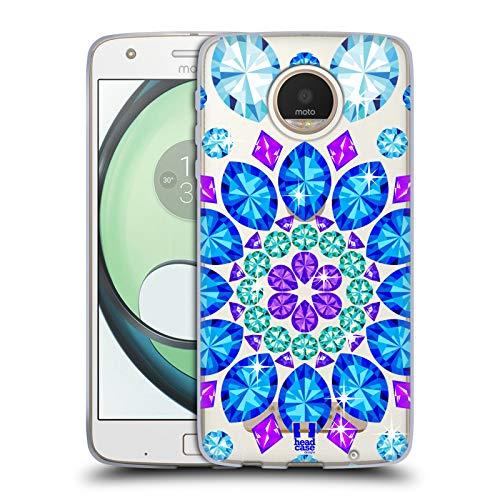 Head Case Designs Mandala Crystals Sparkling Gemstones Soft Gel Case for Motorola Moto Z Play/Droid