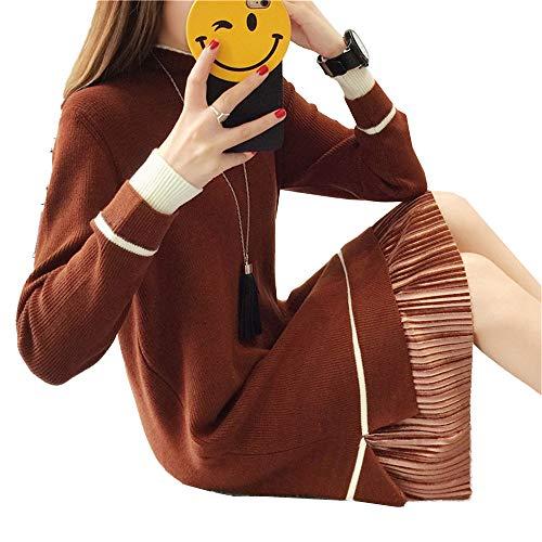 Caliente Delgado Suéter Vestido Las Atractivo De Delgado Mujeres Shirloy Largo Glamour Grande Caramelo nWgUS8cqHw
