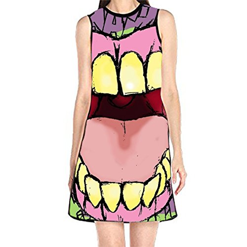 Bobosell Blague Tueur Sans Manches Sundress Réservoir Femmes Impression T-shirt Joke1 Killer Robe