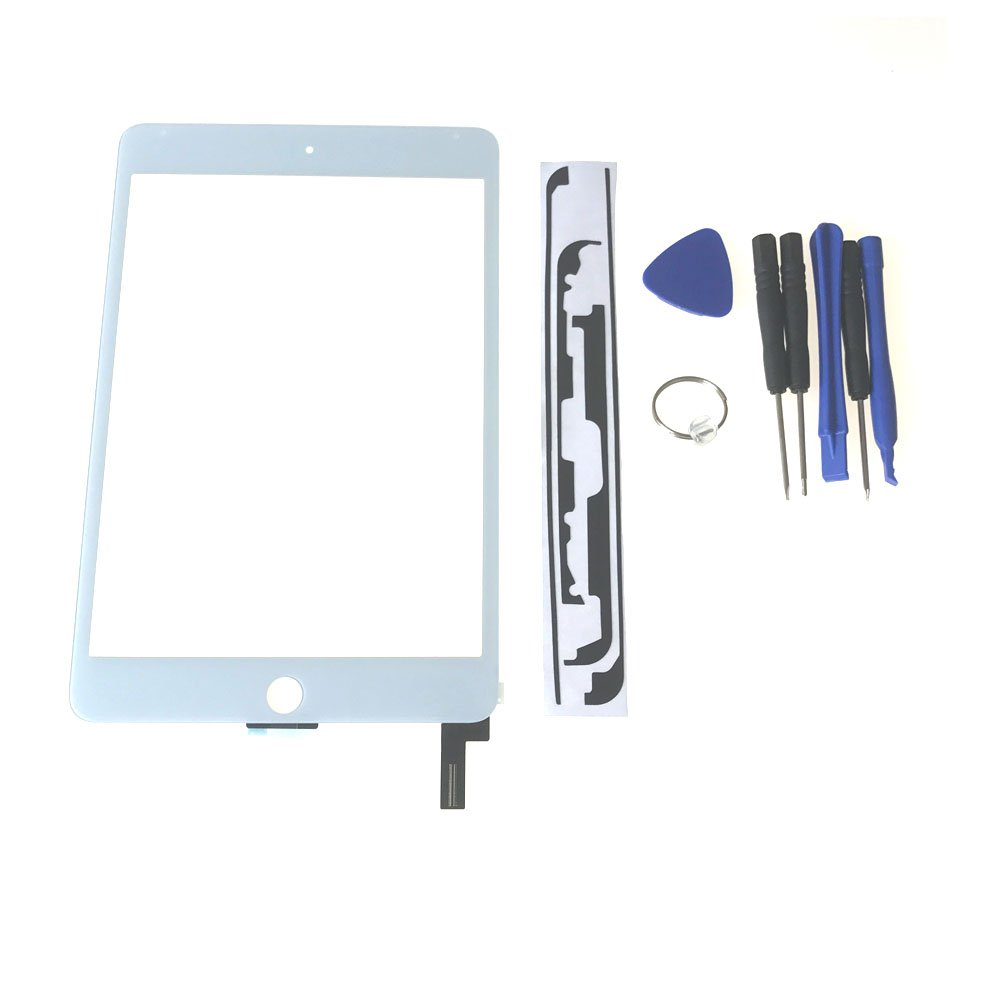 Ipad Mini 4 Touch Screen Glass Lens Replacement -New OEM Touch Screen Glass Lens Replacement For Ipad Mini 4,Touch Screen Glass Panel Repair Part For Ipad Mini 4 White Tools High-Resistant