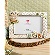 Baby Owl Picture Frame Horizontal 3d (8  X 6  Holds a 6  X 4  Picture) From Gifts By Fashioncraft