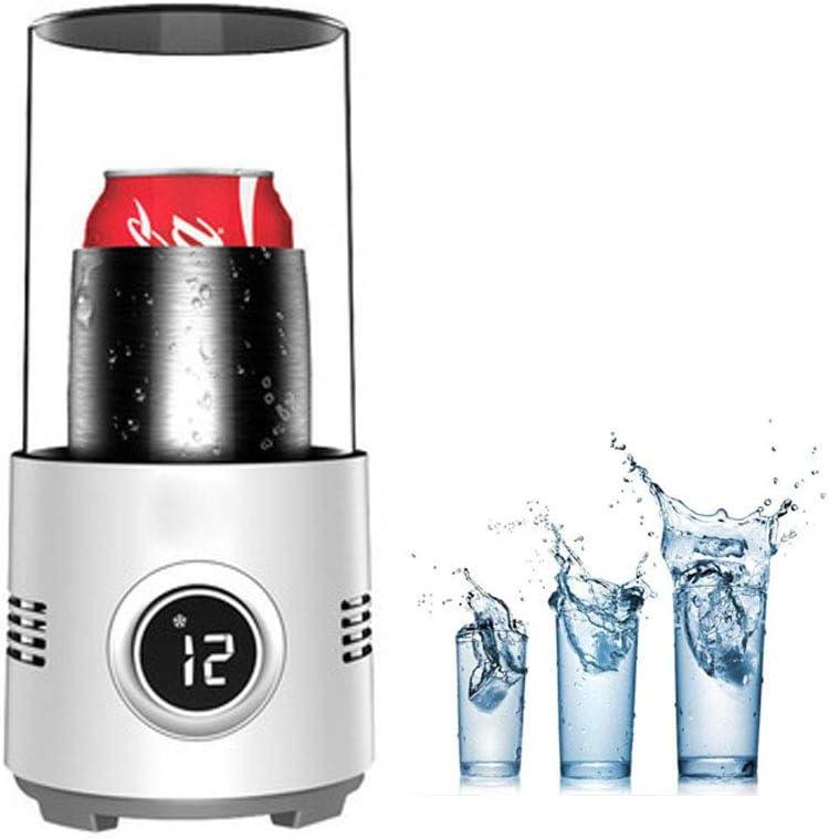 Electrónico Enfriador Botellas Vino Taza, Mini Refrigerador Actualizado, Copa De Enfriamiento Y Calentamiento Rápido, Cerveza Helada, Bebidas Portátil Para El Hogar, Oficina, Viajes, Automóvil