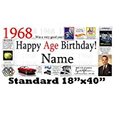 1968 50th Birthday Personalized Banner by Partypro