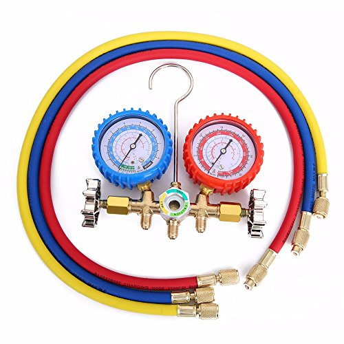 R12 Air (UTL 1Set Refrigerants Manifold Gauges Tools Set 0-10MPA For R134A R12 R22 R404z Air Condition Refrigeration)