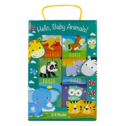 Hello, Baby Animals! 24 Board Book Block Set - PI Kids