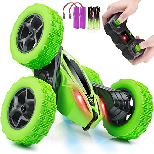 Remote Control Car, ORRENTE RC Cars Stunt Car Toy, four wheel drive 2.4Ghz Double Sided 360° Rotating RC Car with Headlights, Kids Xmas Toy Cars for Boys/Girls
