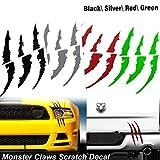 1x Die-Cut Monster Claws Scratch Headlight Decal Vinyl Sticker Halloween Décor Universal Fit[black]