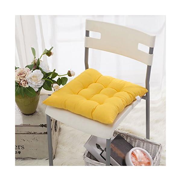 Worsendy Cuscino Sedia, Cuscini per Giardino, per Dentro e/o Fuori,40x40 cm,Disponibile in Tanti Colori Diversi,Cuscini… 3 spesavip