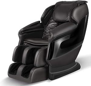 SGorri Massage Chair Full Body and Shiatsu Recliner, Zero Gravity, Bluetooth Music, Fully Body Airbags, Heating and Vibration,Foot Roller,Dark Brown,SG-6105