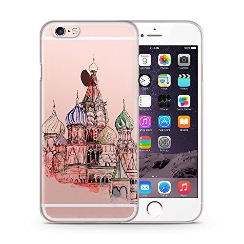 Kremlin Palast iPhone 6 & 6S TRANSPARENT SLIM Hülle Hülle Cover Case Schutz Schale Kremlin Palace Russia Russland
