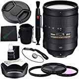 Nikon AF-S NIKKOR 28-300mm f/3.5-5.6G ED VR Lens + 77mm 3 Piece Filter Set (UV, CPL, FL) + Lens Cap + Lens Hood + Lens Cleaning Pen + Microfiber Cleaning Cloth + Lens Cap Keeper Bundle