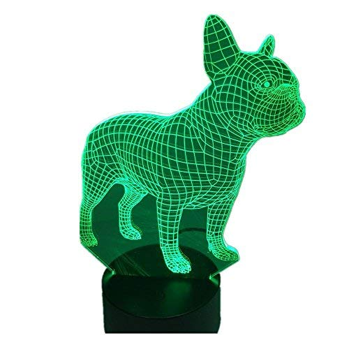 French Press Linear - French Bulldog 3D LED Night Lamp 7 Colors USB Hologram Decor Lamp Table Desk Lights Birthday Party Gift For Children Friends