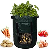 buy Kadaon 2-Pack 7 Gallon Garden Potato Grow Bag Vegetables Planter Bags with Handles and Access Flap for Potato, Carrot & Onion now, new 2018-2017 bestseller, review and Photo, best price $39.99