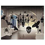 Halloween Decorations Haunted House Party Hanging Decor Kit 17pc (Small image)