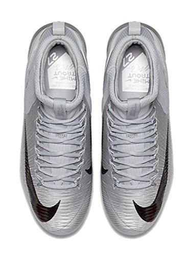 Nike Heren Forel Kracht Zoom 3 Mid Metalen Honkbalcleats Wolf Grijs / Donkergrijs Metallic