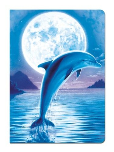 Moon Dolphins (Tree-Free Greetings Journal, 160 Ruled Pages, Recycled, 5.5 x 7.5 Inches, Dolphin Moon, Multi Color (72086))