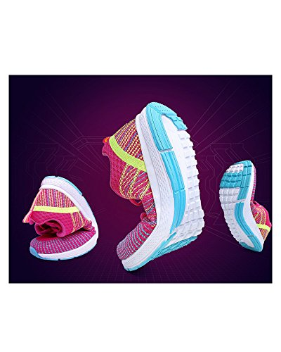 Mesh Rond Coloré Plein Air Fuchsia Course À Collège Qjfj Up Chaussures Bout Lace Respirant Voyage En Sport Adolescentes Femmes Casual Pied Toile Haute w88qSRC