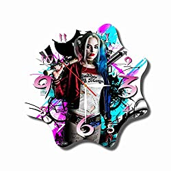 Art time production FBA Harley Quinn 11.8'' Handmade Unique Wall Clock - Get Unique décor for Home or Office – Best Gift Ideas for Kids, Friends, Parents