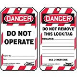 Lockout Tag, Danger Do Not Operate, PK100