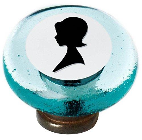 Woman Cameo Round Knob in Oil Rubbed Bronze Finish