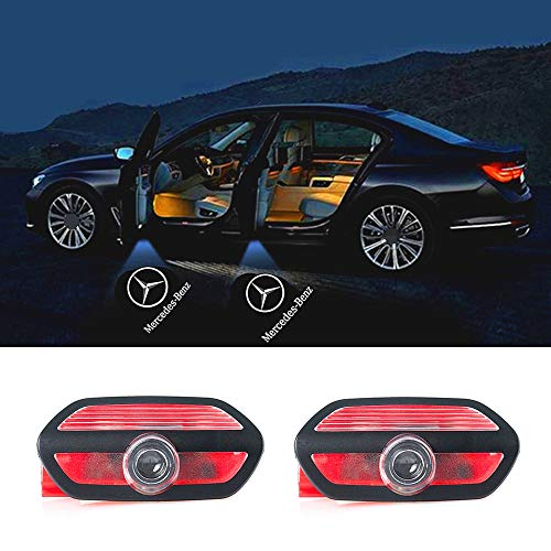 Price comparison product image 2 pcs Door LOGO projector Car Courtesy LED Light with Pattern Shadow Welcome Lamp for Mercedes-Benz W222 S-Class 2014-2018