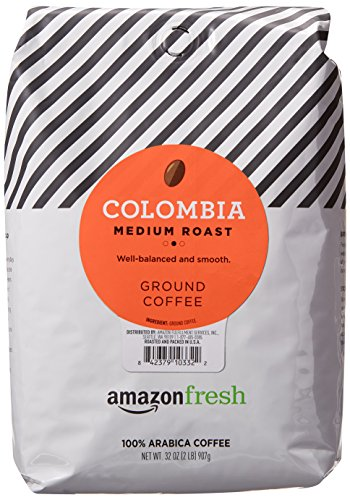 AmazonFresh Colombia, 100% Arabica Coffee, Medium Roast, Ground, 32 Ounce