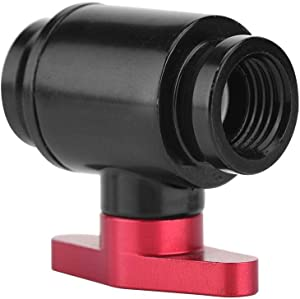 Diyeeni Water Cooling Valve G1/4 Screw Thread Brass Water Cooling Valve High Flow Ball Valve Structure for Computer Water Cooling System Solid and Durable(Red Switch)