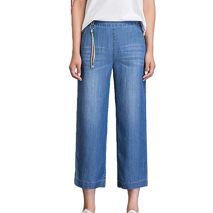 Pantalón Ancho para Mujer Pantalones Casuales Pantalones ...