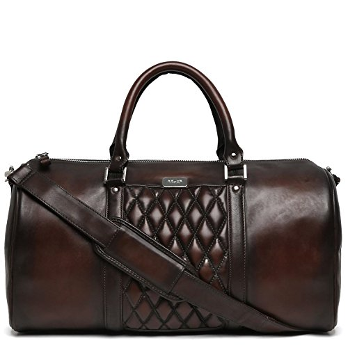 81f7c2c444 Brune men brown color genuine leather duffle bag: Amazon.in: Shoes ...