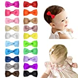 Shemay Tiny 2' Hair Bows Fully Covered Hair Clips for Baby Girls Toddlers Infants