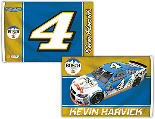 R and R Imports Kevin Harvick #4 3' x 5' Deluxe Two Sided ()
