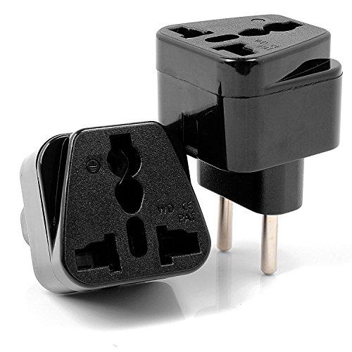 Neuftech® 2x Universal Reisestecker Adapter Travel Plug EU Stecker europa Deutschland auf UK USA,China,Kanada,Japan,Thailand,Mexiko,Philippinen usw
