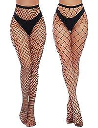 0726ad739 Womens High Waist Tights Fishnet Stockings Thigh High Pantyhose