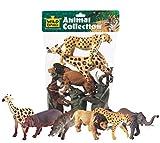 Wild Republic Giraffe, Hippo, Lion, Cheetah, Elephant, Warthog African Animals Polybag, 6 Pieces