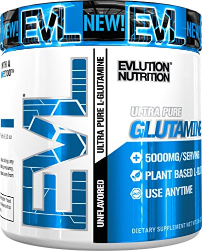 Used, Evlution Nutrition L-Glutamine 5000 | 5g Pure L Glutamine for sale  Delivered anywhere in USA