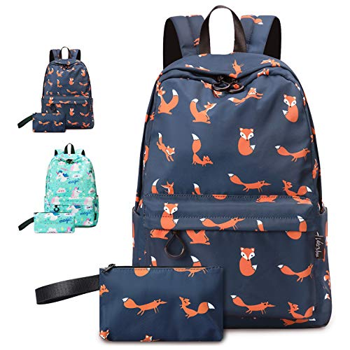 - VentoMarea Fox Girls Teen Girls School Backpack Set College High School Student Bookbags Lightweight Travel Laptop Daypack with Pencil Pouch