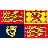 Neue britische Royal Standard Flagge Große 5ft x 3ft mit 2 Metallösen [Misc.]