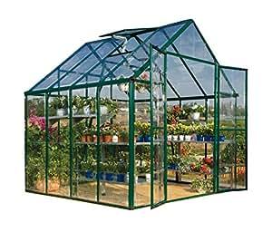 Palram Snap & Grow 8' Series Hobby Greenhouse - 8 x 8 x 9 Green