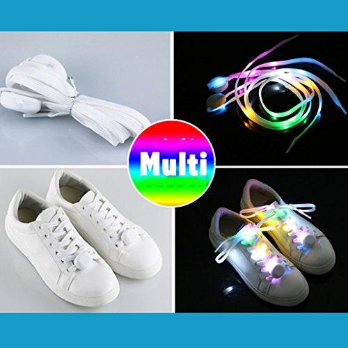Danse Chaussures Anniversaire Running Basket Festivals Flash Jeu Lumière Night Cycling Disco 1 Pour Lacets Multicolor Lumineux Led Clubs Favor Paire Nylon parfait Dogeek wUZ807gqw
