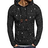 Corriee Fashion Tops for Men 2018 Casual Solid O Neck Ripped Hole Hooded Pullover Mens Stylish Autumn Hoodies Sweater