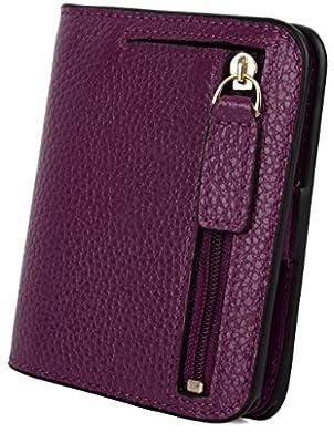 YALUXE Women's Small Compact Bi-fold Leather Pocket Wallet