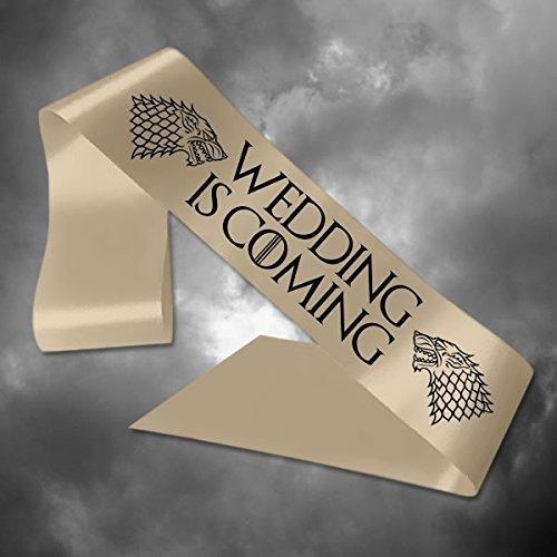 Cinta personalizable de Juego de Tronos boda está comando ...